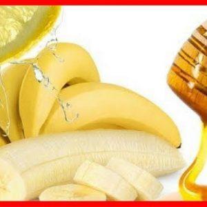Mascarilla de plátano y miel cabello seco